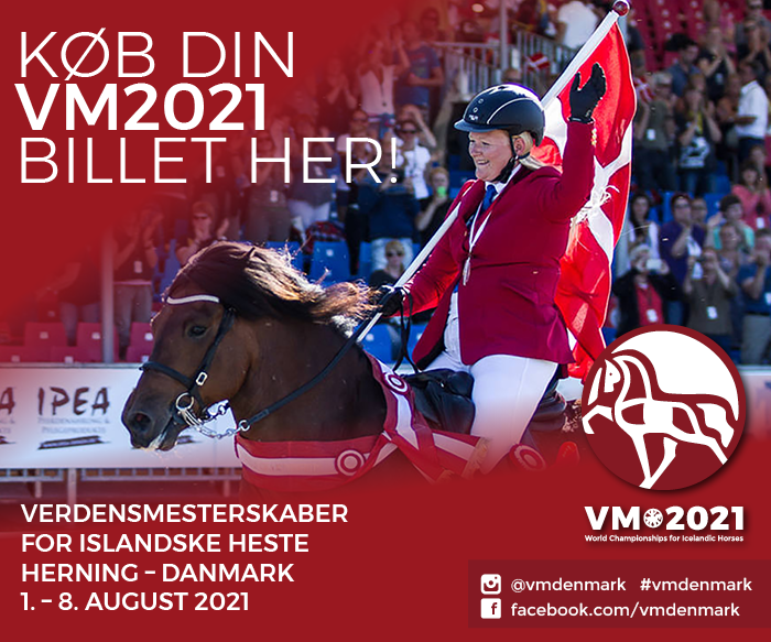 Verdensmesterskaber for Islandske heste. Herning - Danmark. 1. - 8. august 2021