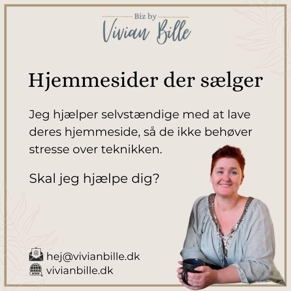 Vivian Bille - hjemmesider der sælger